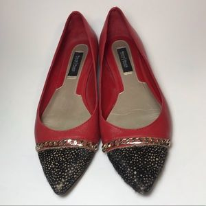 White House Black Market Red Velencia Flat- 7.5